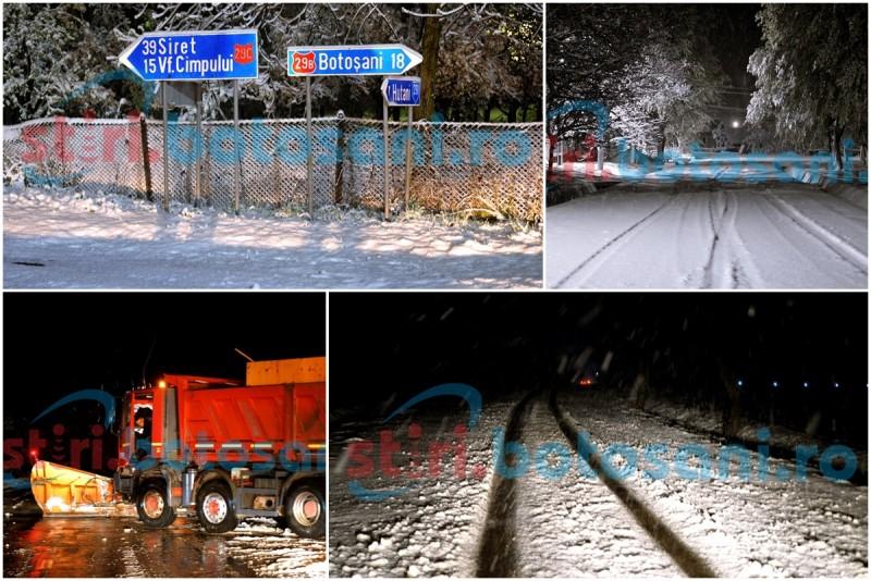 Zapada a pus din nou stapanire pe drumurile din judetul Botosani! TIR-uri blocate si masini in santuri! GALERIE FOTO