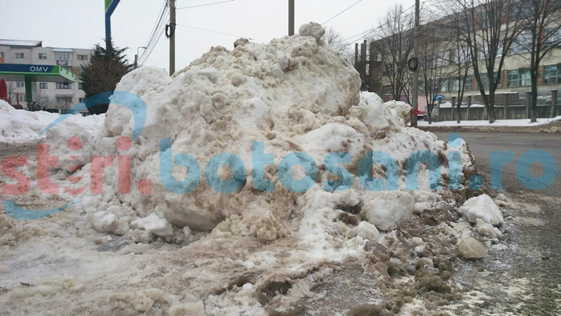 Zăpada adunată în preajma școlilor din municipiul Botoșani va fi cărată