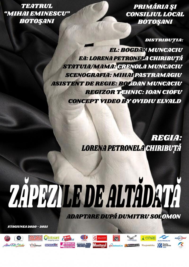 """""""Zăpezile de altădată"""", un spectacol repus în scenă de actorii Teatrului """"Mihai Eminescu"""" Botoșani"""