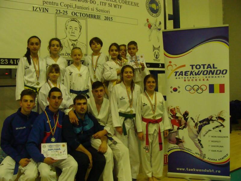 Zece medalii de aur obtinute de botosaneni la Cupa Romaniei la sporturi martiale coreene!