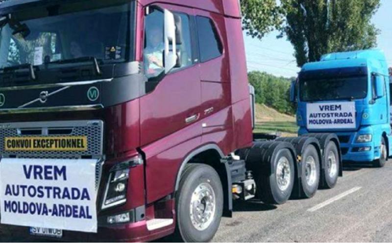 Zeci de botoșăneni și peste 500 de motociclete, mașini, camioane și tractoare și-au anunțat prezența la mitingul de susținere a autostrăzilor din Moldova