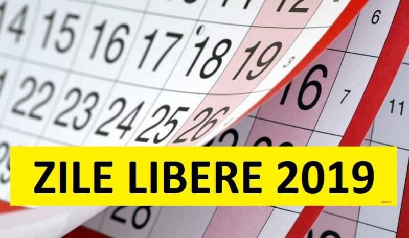 """Zile libere 2019: Ce sarbatori pica in weekend si unde mai poate Guvernul sa faca """"punte"""" pentru bugetari"""
