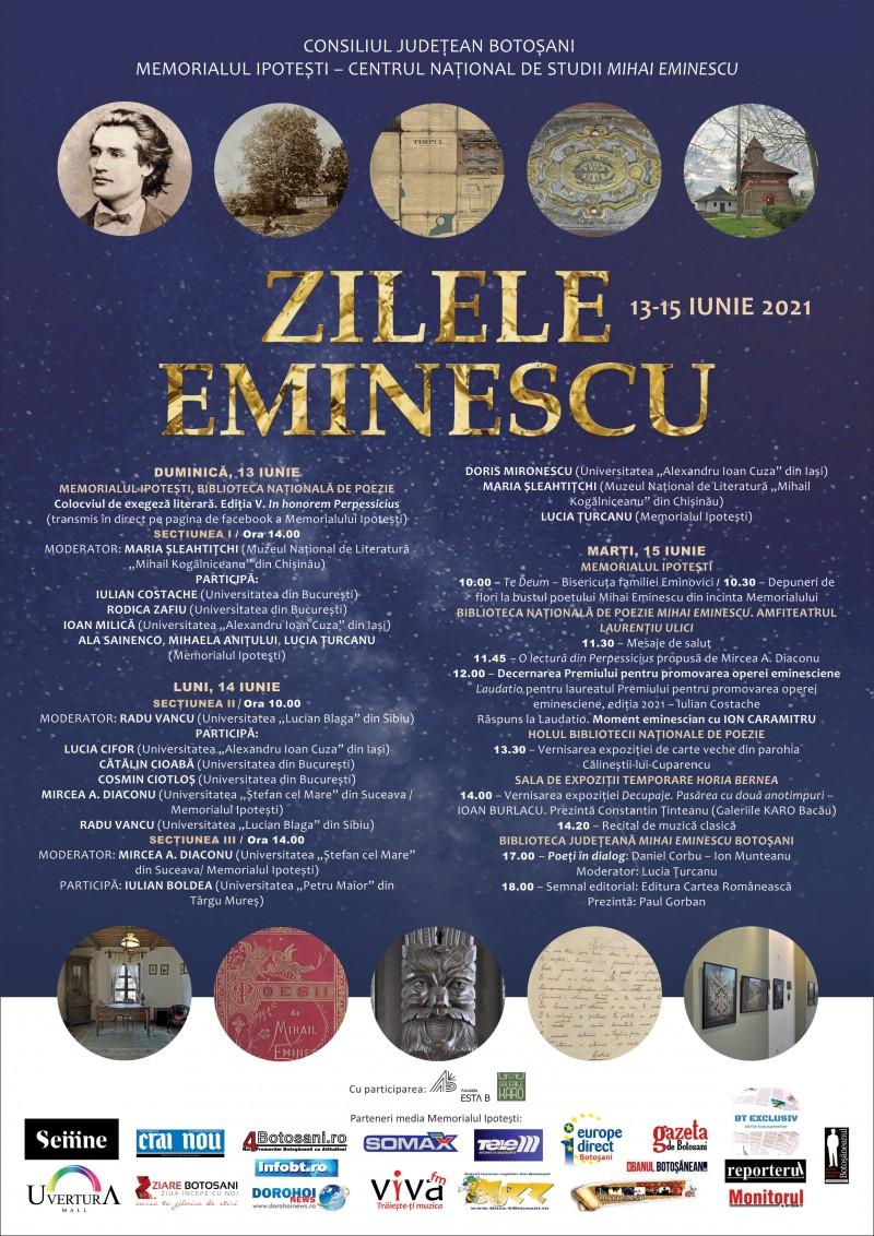 Zilele Eminescu, ediția din iunie, la Memorialul Ipotești