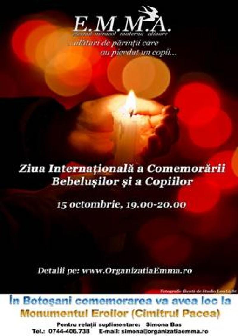 """""""Ziua Internaţională a Comemorării Bebeluşilor şi a Copiilor"""" celebrată pe 15 octombrie şi la Botoşani"""