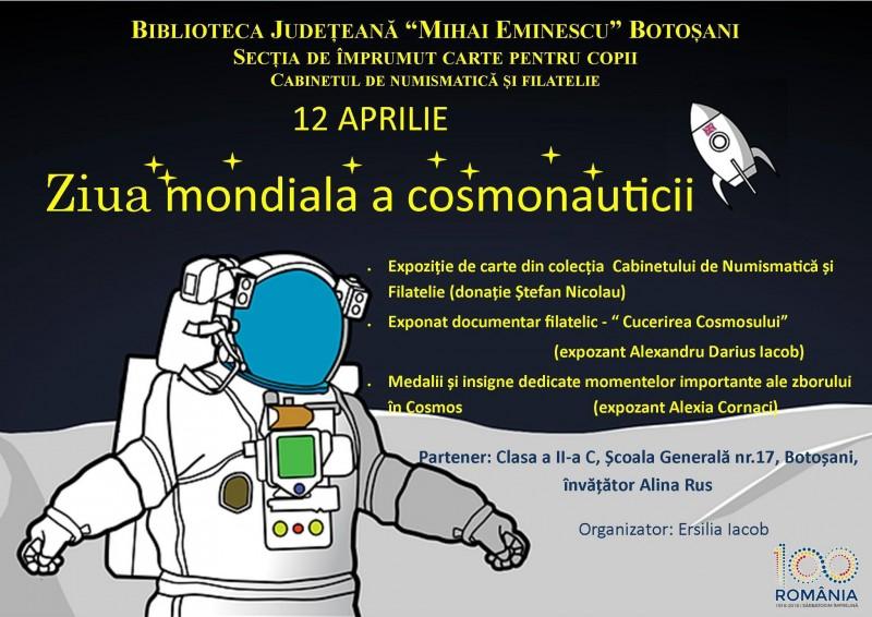 Ziua mondială a cosmonauticii sărbătorită la Biblioteca Județeană Botoșani