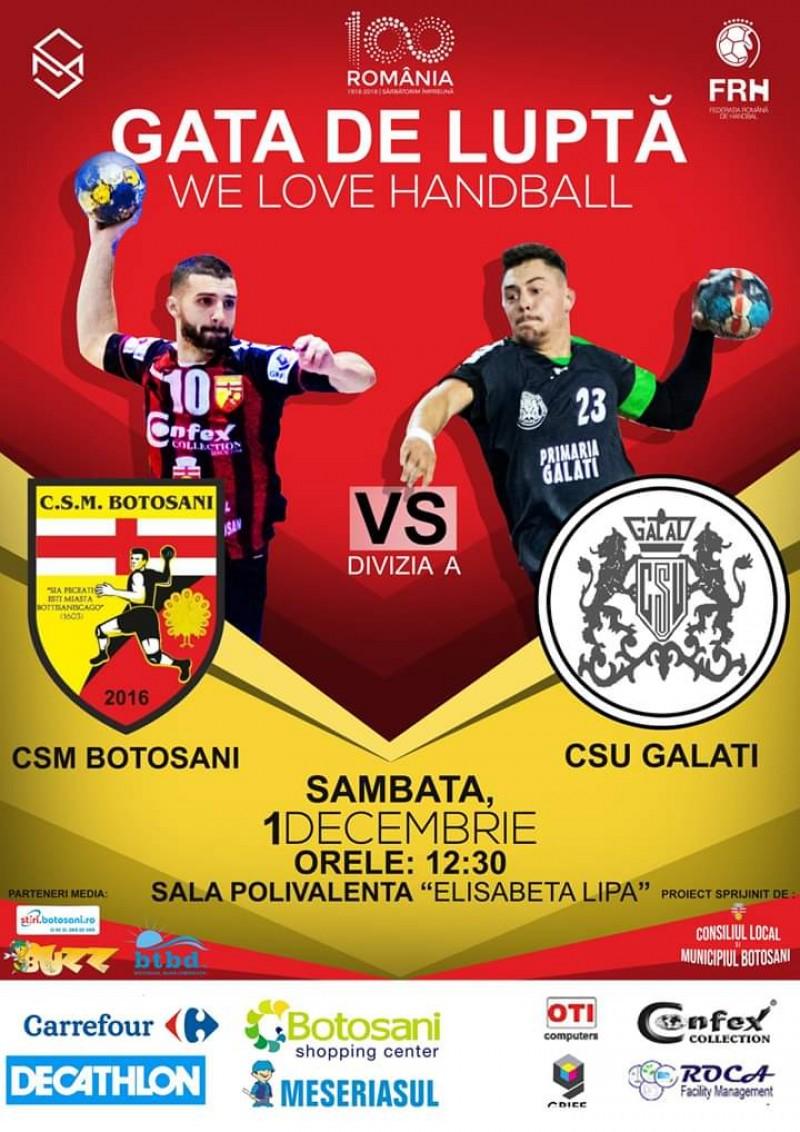Ziua Națională a României aduce un nou meci de handbal masculin disputat la Polivalenta din Botoșani!