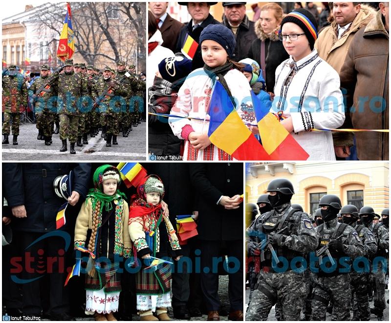 Ziua Națională a României la Botoșani: Sute de botoșăneni cu steaguri în mâini, oficialități și aplauze pentru Garda de onoare - FOTO, VIDEO