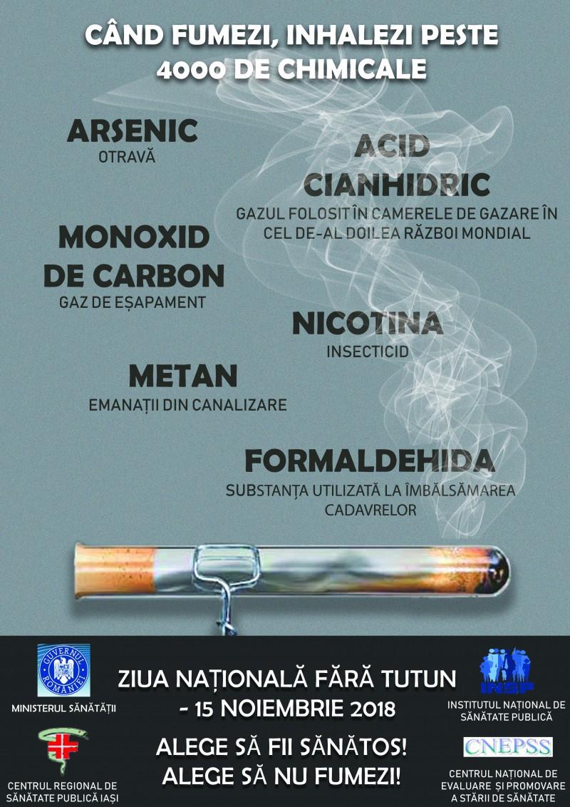 """Ziua Naţională fără Tutun, marcată la Botoșani prin campania """"Alege să fii sănătos! Alege să nu fumezi!"""""""