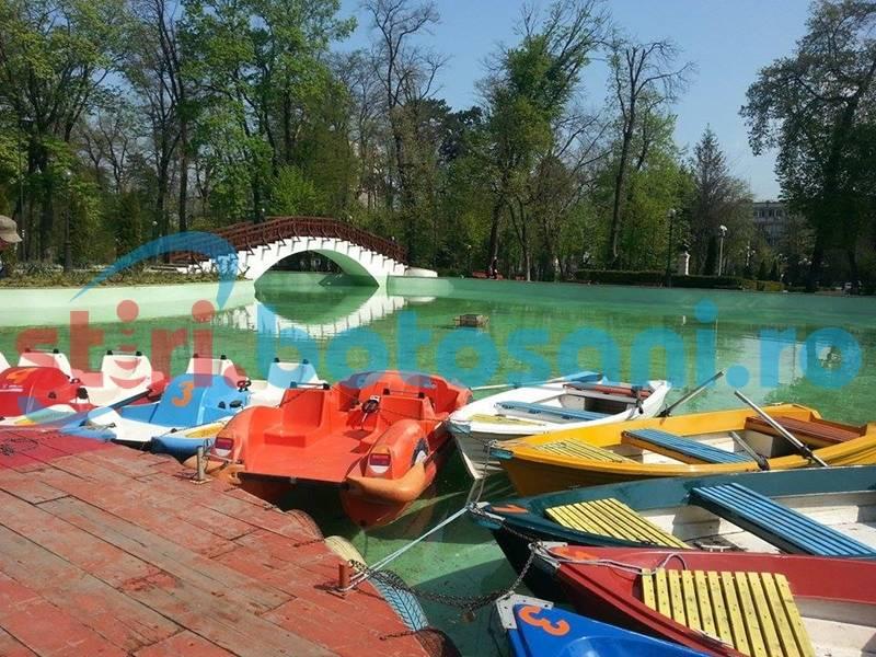 Zona de agrement din Parcul M. Eminescu, căutată de botoșăneni. Cât s-a încasat!